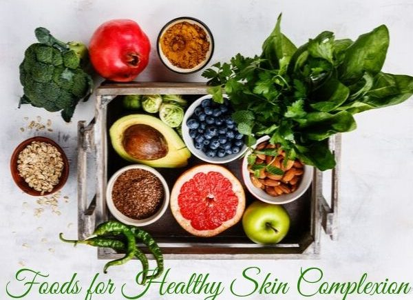 Foods for healthy skin complexion