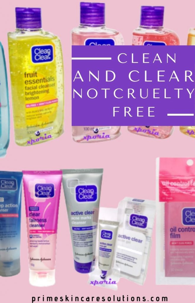 Is Clean and Clear cruelty free and gluten free