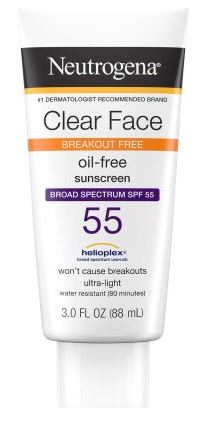 Neutrogena Clear Face Break-Out Free Liquid Lotion Sunscreen SPF 55 Review